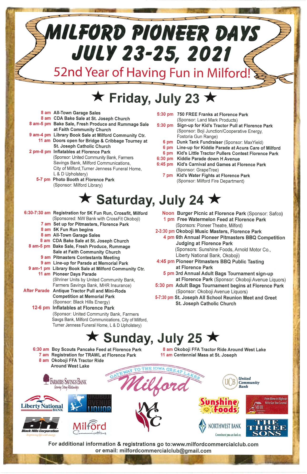 Pioneer Days Poster 2021